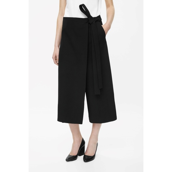 833e4eeb022c COS Pants | Black Wrap Front Trousers | Poshmark